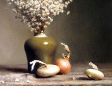 Onions and Dried Flowers